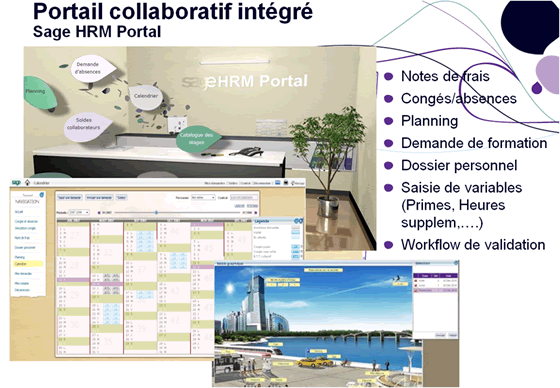 Portail collaboraif Sage RH Management