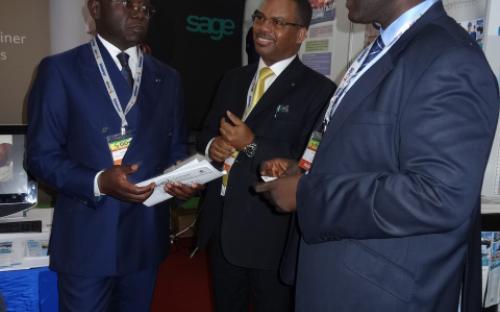 Le PDG Denis Ngokana de AOGC ex PDG de la SNPC au stand MTI